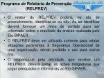 programa de relat rio de preven o relprev1
