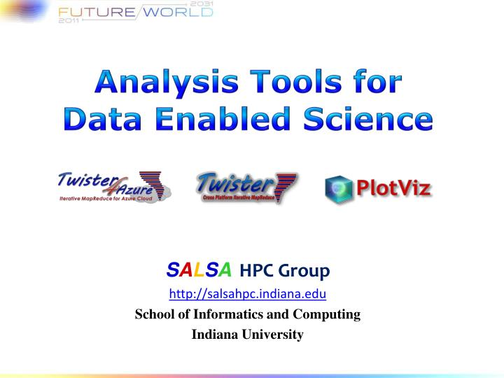 analysis tools for data enabled s cience n.
