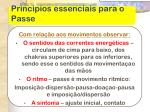 principios essenciais para o passe