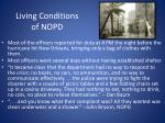 living conditions of nopd