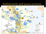 settlements and peace process