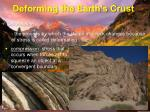 deforming the earth s crust