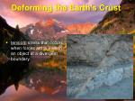 deforming the earth s crust1