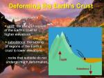 deforming the earth s crust11