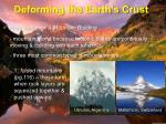 deforming the earth s crust7
