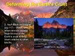 deforming the earth s crust8