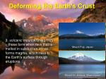 deforming the earth s crust9