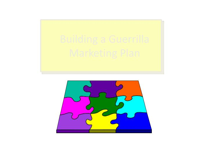 building a guerrilla marketing plan n.