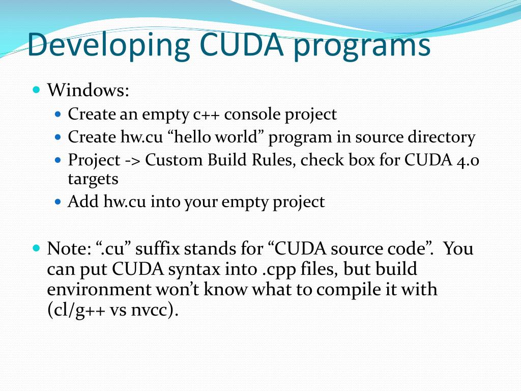 PPT - Lecture 2: Introduction to Parallel Computing Using CUDA