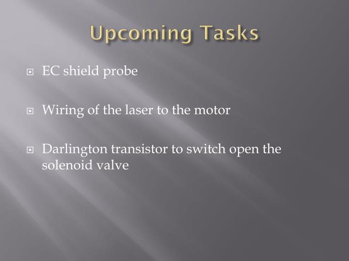 Upcoming Tasks