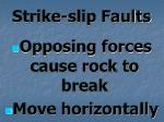 strike slip faults