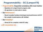 programmability sc lamport79