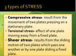3 types of stress