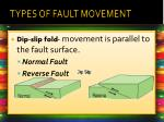 types of fault movement1