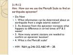3 19 12 aim how can we use the mercalli scale to find an earthquake epicenter