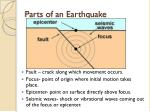 parts of an earthquake