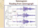 seismogram reading from seismograph