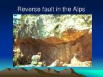 reverse fault in the alps