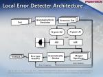 local error detecter architecture