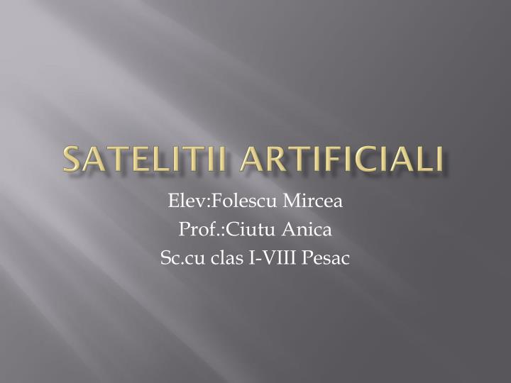 satelitii artificiali n.