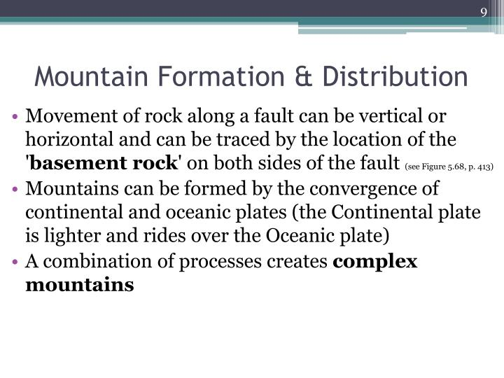 Mountain Formation & Distribution