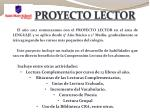 proyecto lector