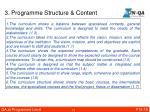 3 programme structure content