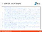 5 student assessment
