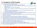 6 academic staff quality