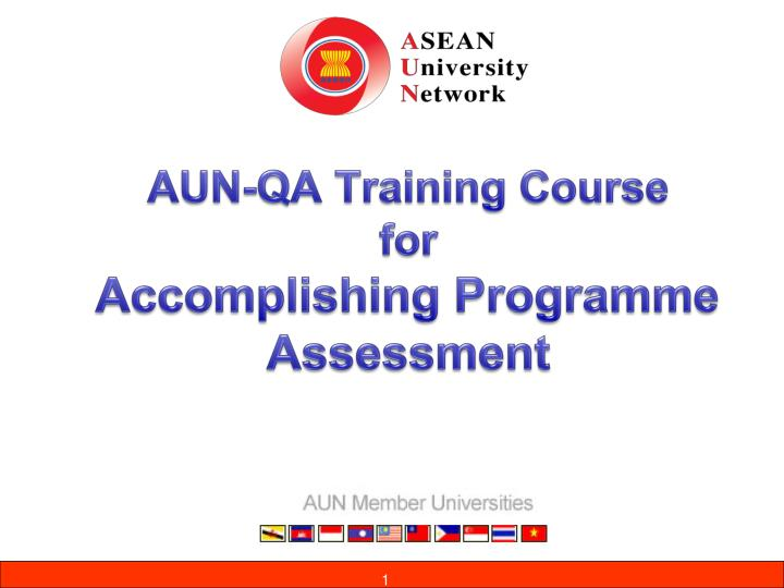 aun qa training course for accomplishing programme assessment n.