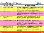 collect data and evidences1
