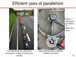 efficient uses of parallelism