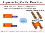 implementing conflict detection