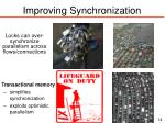 improving synchronization