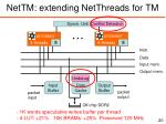 nettm extending netthreads for tm