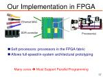 our implementation in fpga