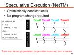 speculative execution nettm