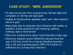 case study mrs anderson