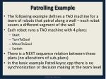 patrolling example