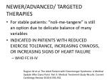 newer advanced targeted therapies