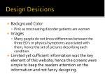 design desicions