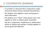 2 cooperative learning