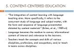 5 content centered education