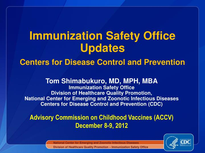 immunization safety office updates centers for disease control and prevention n.