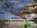 normal fault located in bakerstown station pa
