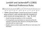 lerdahl and jackendoff s 1983 metrical preference rules2