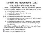 lerdahl and jackendoff s 1983 metrical preference rules4