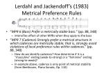 lerdahl and jackendoff s 1983 metrical preference rules5
