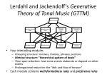lerdahl and jackendoff s generative theory of tonal music gttm