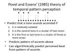 povel and essens 1985 theory of temporal pattern perception1